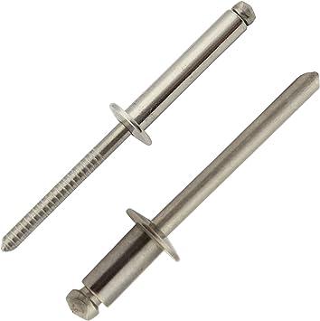 Alu//Stahl Flachkopf 4,0 mm x 7 mm DIN 7337 Blindnieten St 100 St/ück