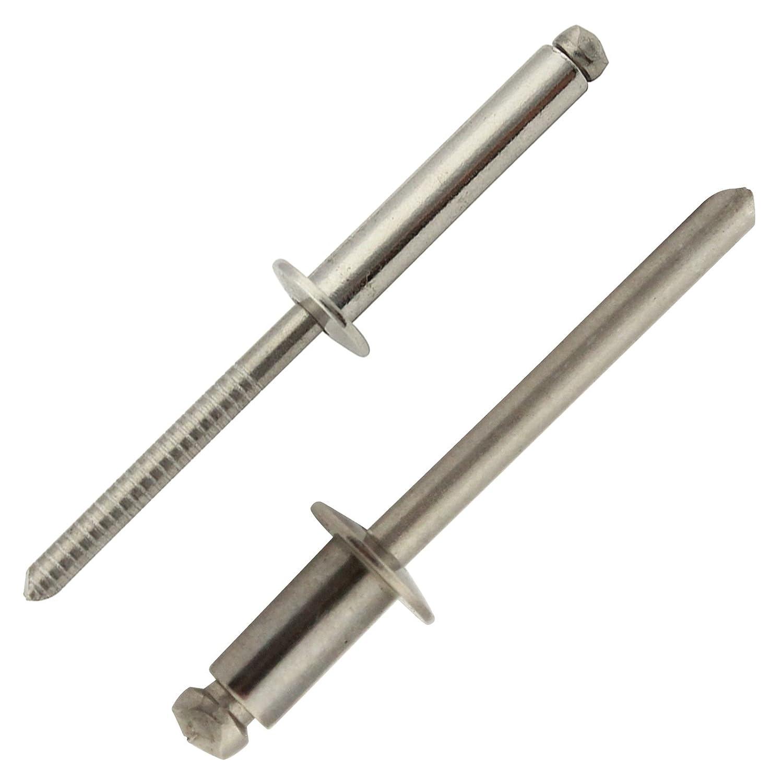 rostfrei - mit Flachkopf ISO 15983 Niet Eisenwaren2000 2,4 x 6 mm Blindniet Popnieten DIN 7337 20 St/ück Edelstahl A2 V2A