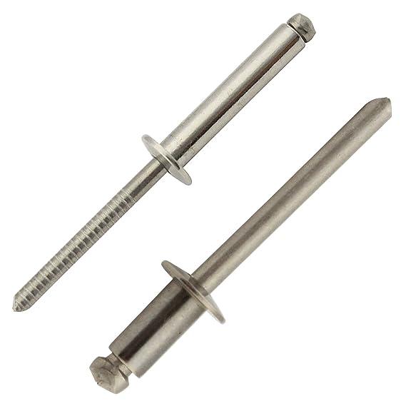 Flachkopf 4,0 X 25 mm Edelstahl A2 50 St/ück Blindnieten DIN 7337 m - Popnieten Nieten