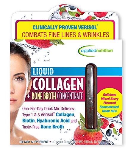 Applied Nutrition Liquid Collagen Plus Bone Broth Concentrate, 3.35 Fluid Ounce