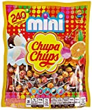 Chupa Chups Mini Lollipops, Suckers for Kids, Halloween Bulk Candy, Party, 240ct Bag