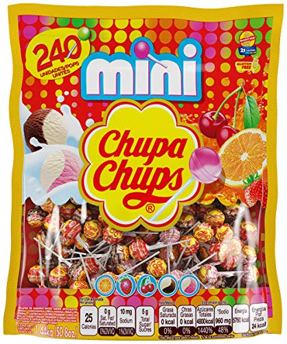 Chupa Chups Mini Lollipops, Suckers for Kids, Halloween Bulk Candy, Party