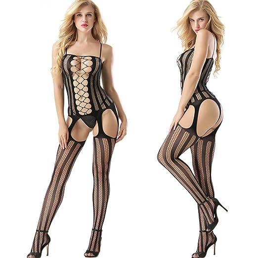 f2641d9090f Amazon.com: Makaor Lingerie, Women Sexy Hollow Open Crotch ...