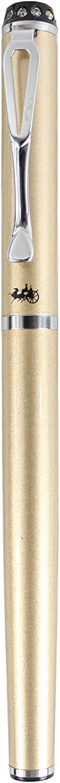 Set Diamond Cap Sipliv 301 Medium Nib Fountain Pen Glossy Red