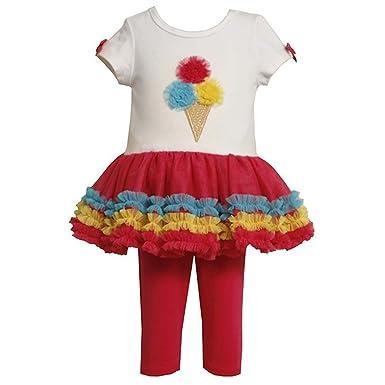 940eb50c6 Amazon.com  Bonnie Jean Ice Cream Cone Tutu Dress (12 Months