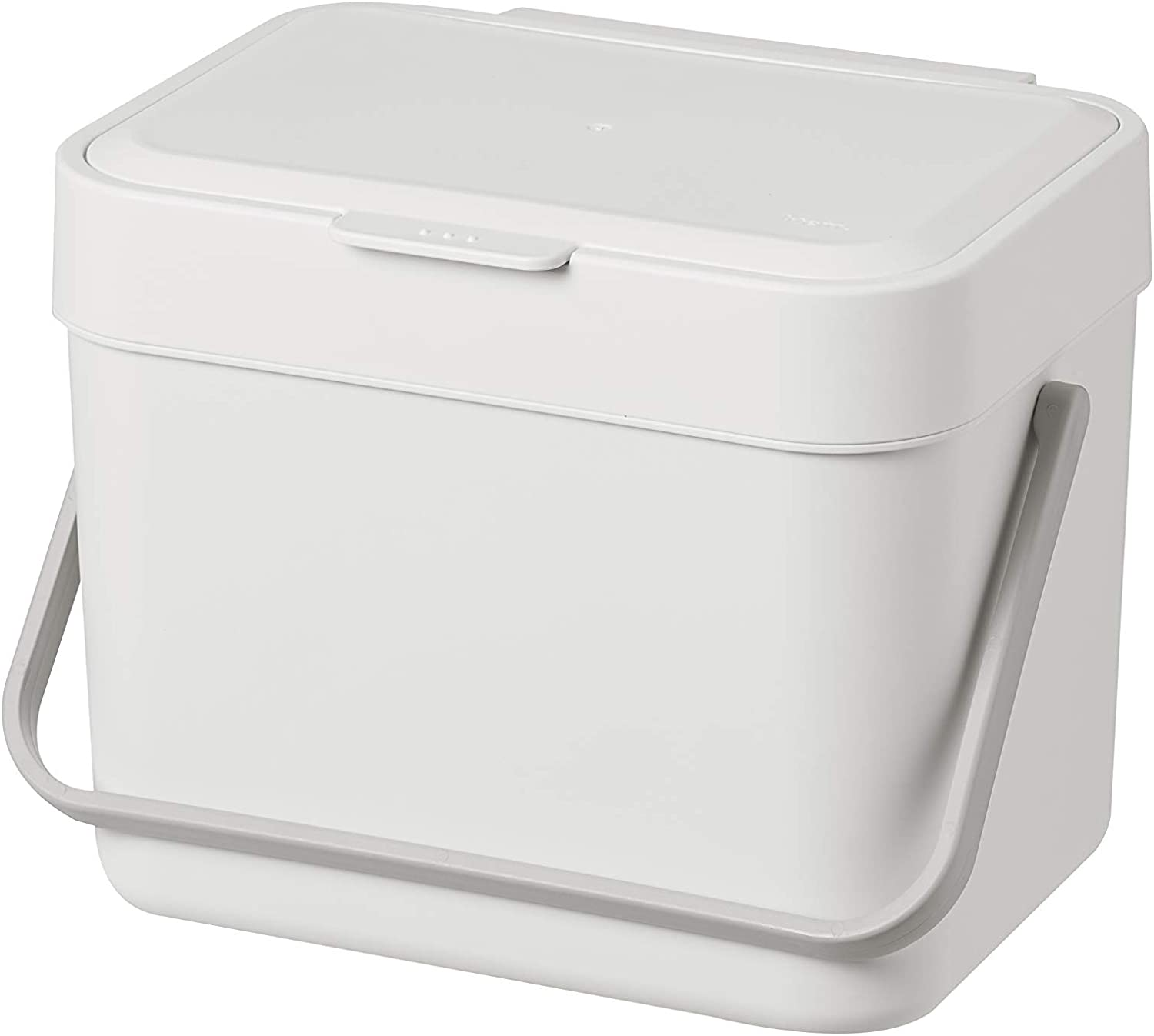 Litem Food Waste Basket Bin – a Wall Hanging Type Bucket with Hook and Bracket to Hang Against Wall or Kitchen countertop for Your conveniences 1.05 Gallons (4L) (Ivory)