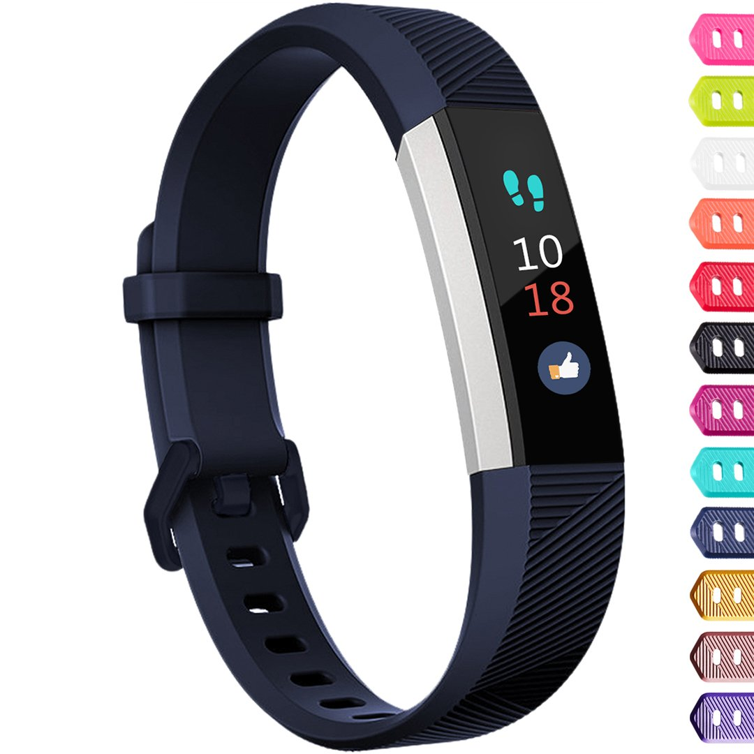 Ouwegaga Compatible for Fitbit Alta Bands and Fitbit Ace Bands for Kids Small Blue
