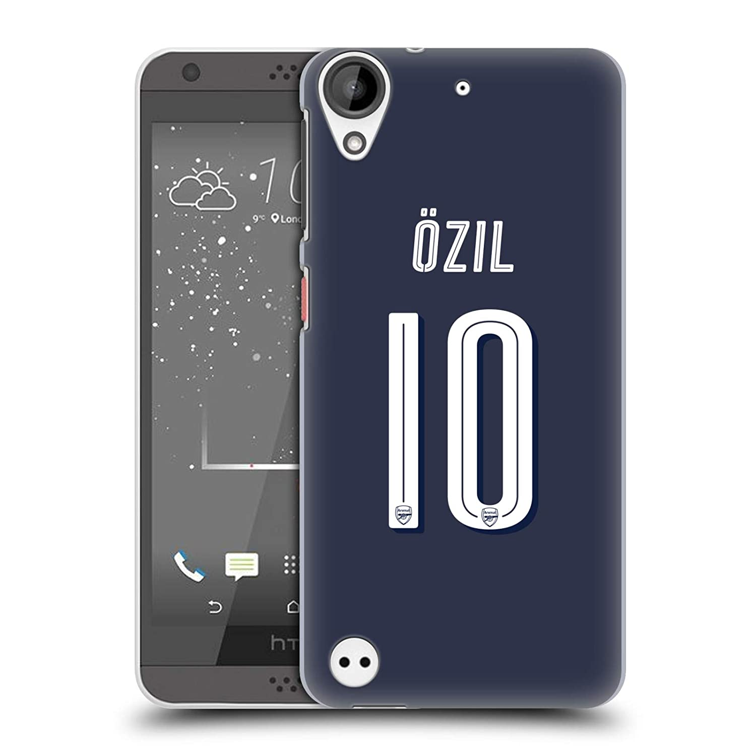 6bb972896 Amazon.com  Official Arsenal FC Granit Xhaka 2018 19 Players Away Kit Group  1 Hard Back Case for HTC Desire 530  Cell Phones   Accessories