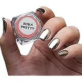 Born Pretty Poudre Effet Miroir ¨¤ Ongles Or Argent Nail Art Manucure