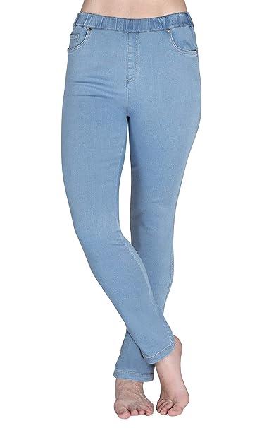 76756c17e PajamaJeans Womens Light Blue Skinny High-Waist Stretch Jeans, Clearwater,  SM 4-