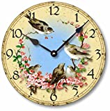 Cheap Item C7001 Vintage Style 10.5 Inch Birds & Cherry Blossoms Clock