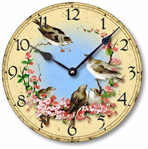 Cheap Item C7001 Vintage Style 10.5 Inch Birds & Cherry Blossoms Clock