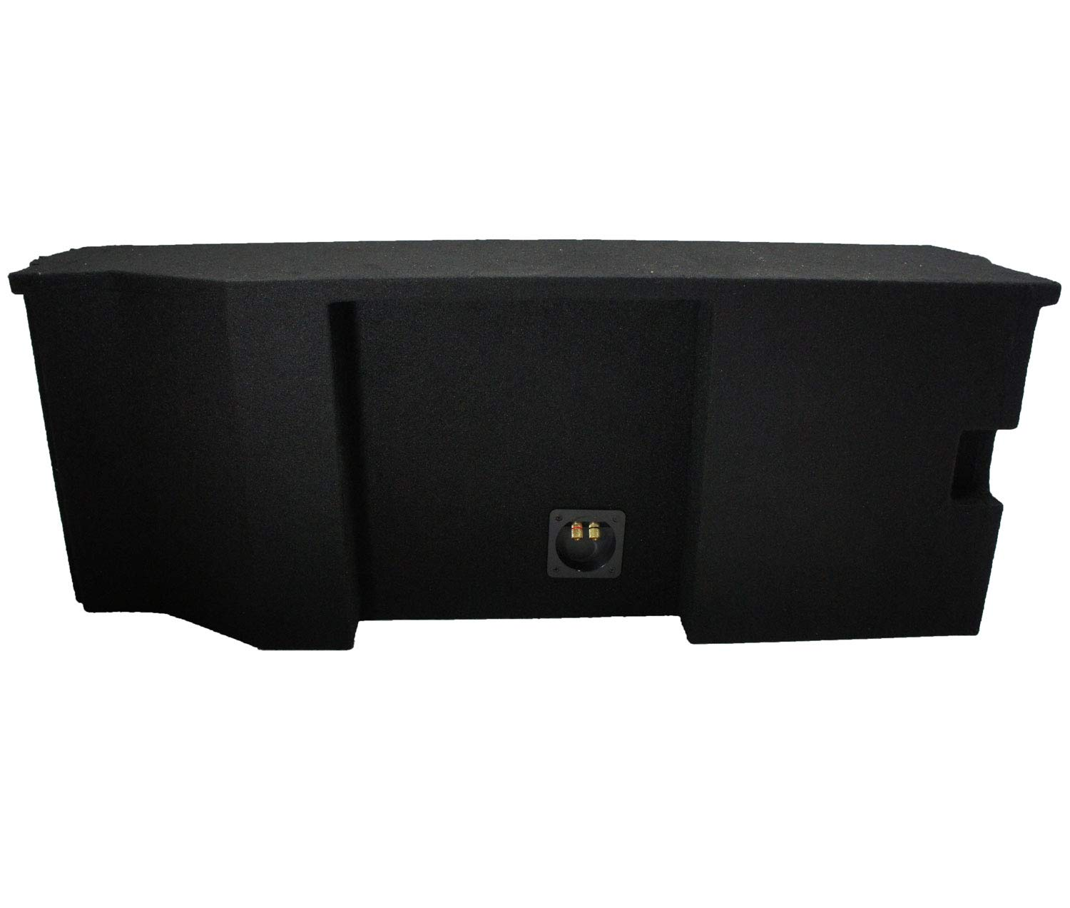 Compatible with 2007-UP Jeep Wrangler 2 Door Dual 10 Sub Box Subwoofer Enclosure with Amp Rack