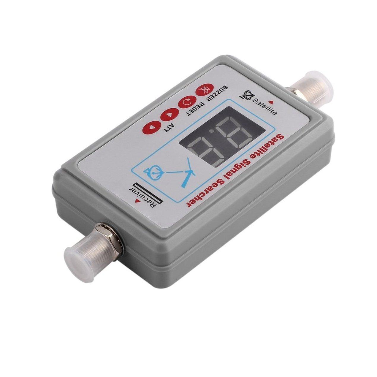 Satellite Signal Finder, TV Satellite Receiver Meter, Mini Portable Digital Antenna, LCD Buzzer JS-SF05 TV Signal Detector Tool Dooret