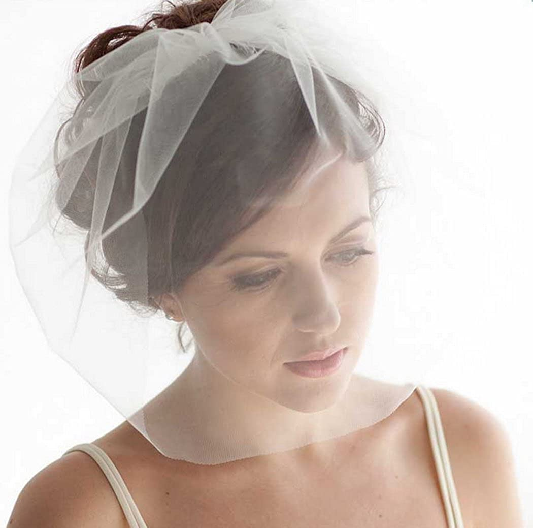 Yean Jovono Bridal Haarschleier Net Schleier Hochzeit Birdcage Schleier mit Kamm für Bräute