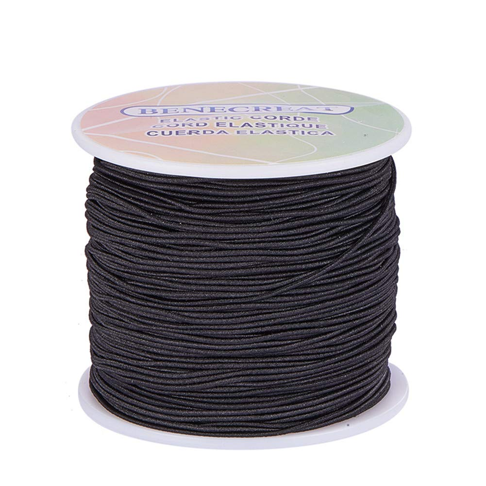 BENECREAT 3mm 20 Yard Elastic Cord Stretch Thread Beading Cord Fabric Crafting String (3mm, White) EC-BC0001-02-3mm