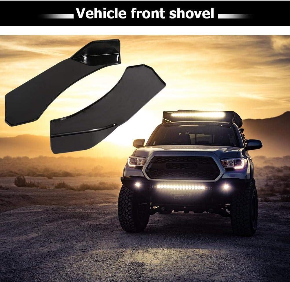 ahomi Universal Car Front Bumper Lip Splitter Spoiler Glossy Black Left+Right
