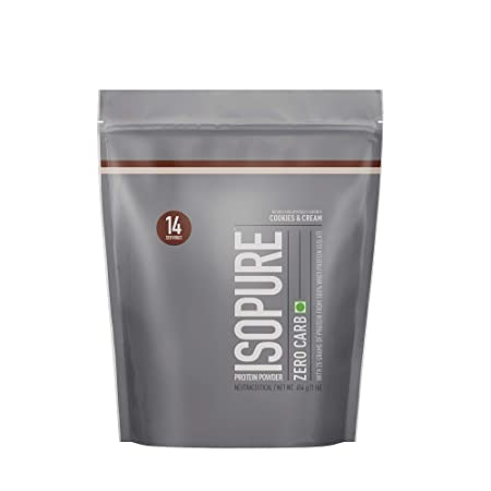 Isopure Zero Carb 100% Whey Protein Isolate Powder - 1 lb, 454 g (Cookies & Cream) Whey Proteins at amazon