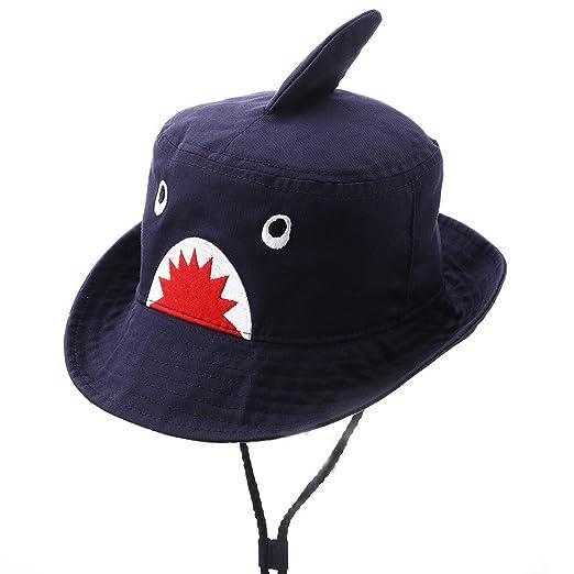 Hisharry Toddler Boy Bucket Hat- Cute Baby Girl Kids Sun UV Protection Shark  Animal Hat 37d2ba59e7b