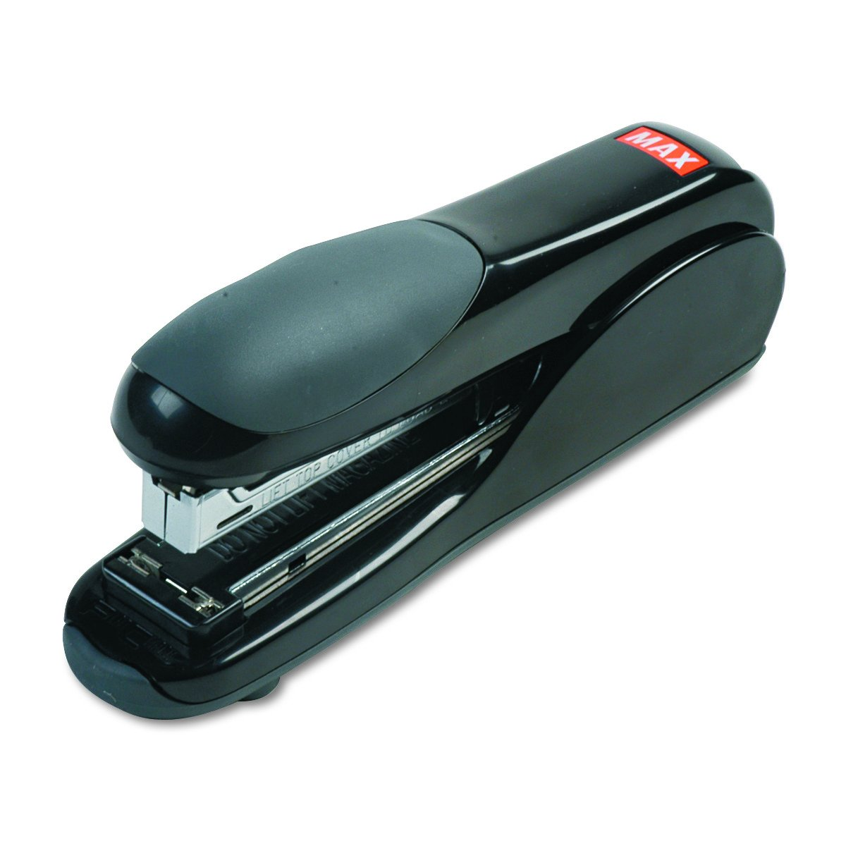 Max Flat-Clinch Black Standard Stapler with 30 Sheet Capacity (HD-50DFBK)