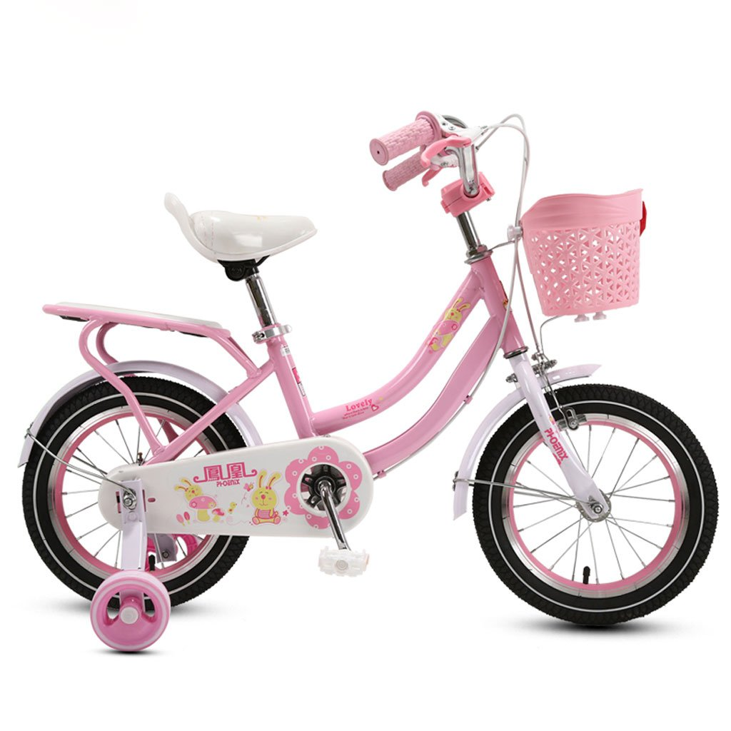 子供の自転車の女の子三輪車3-5-9歳のベビーカーの14/16/18インチ子供の自転車ピンク ( Size : 16 inches ) B07DRBHDFT