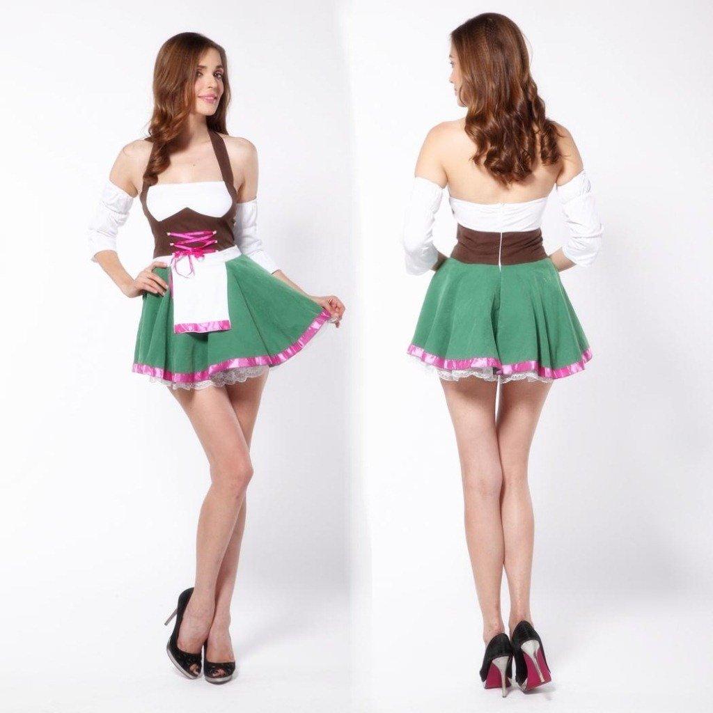 LLY Halloween Costume Femme de Chambre Service de ménage vêtements Oktoberfest Uniformes café Sommelier