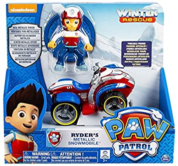 Amazon Com Paw Patrol Ryder S Metallic Snowmobile Toys Games