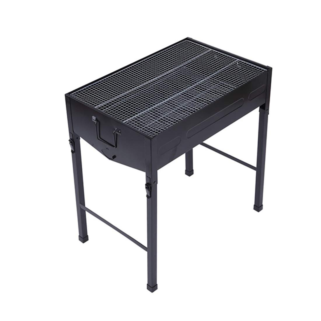 Vfdsvbdv Suitable for Outdoor Camping with Large Capacity and Easy to Carry with The Folding Grill Shelf. (Color : Black)
