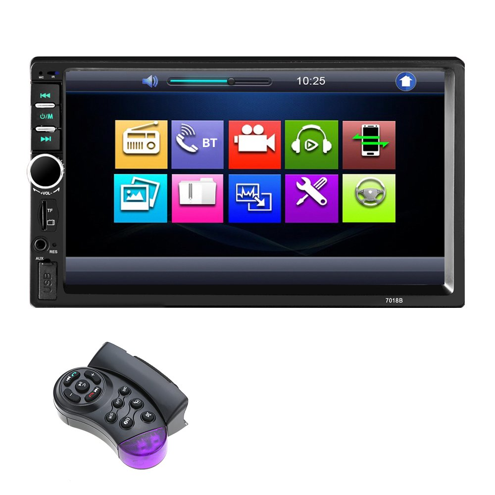 KKmoon 7 Pollici Autoradio Stereo BT 7018B 2DIN HD Radio In Dash Autoradio Touchscreen USB MP3 MP5 Player Telecamera Posteriore