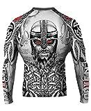 Raven Fightwear Men's Norseman MMA BJJ Rash Guard White 2X-Large