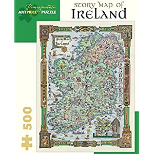 Story Map Of Ireland 500 Piece Jigsaw Puzzle Inglese
