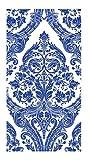 Ideal Home Range 16-Count 3-Ply Paper Guest Towel Napkins, Blue Grandeur
