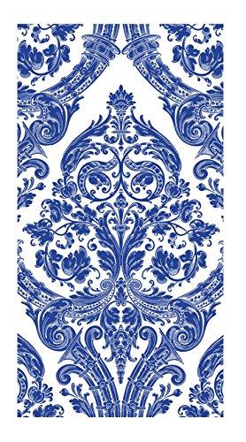 Ideal Home Range 16-Count 3-Ply Paper Guest Towel Napkins, Blue Grandeur - Guest Blue Napkins