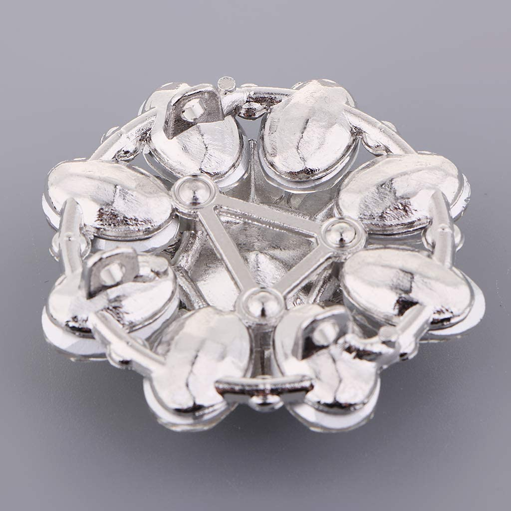 Blanco non-brand Bot/ón Decorativo de Pedrer/ía Hebilla de Imitaci/ón de Diamantes Remache de Rhinestone Aleaci/ón para Artesan/ía