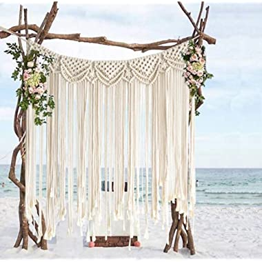 Macrame Wall Hanging Boho Wedding Hanger Cotton Handmade Wall Art Home Wall Decor,42 x 35