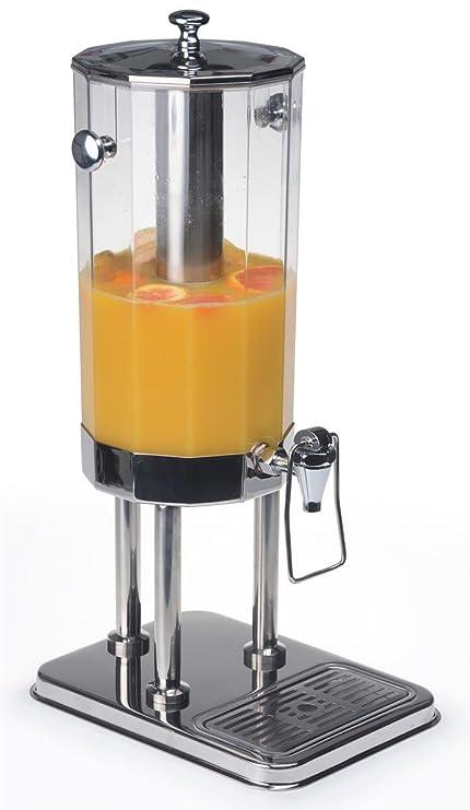 Displays2go dispensador de bebida con trampa palanca de empuje dispensador de mesa bebidas servidor incluye ice