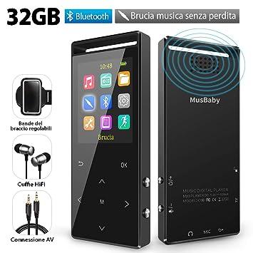Reproductor MP3 32 GB Bluetooth 4.2, Reproductor Hi-Fi con ...