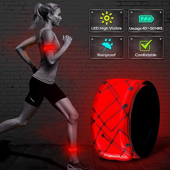 ELANOX - Pulsera LED para Deportes al Aire Libre, Reflector, luz ...
