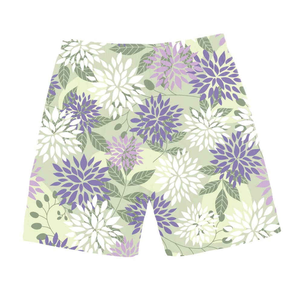 HYLKD Summer Mens Pants Casual 3D Printing Small Fresh Straight Beach Shorts