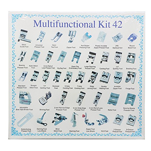 Professional Domestic 42pcs Sewing appliance Presser Feet Set for Brother Babylock Singer Janome Elna Toyota New home Simplicity Kenmore and White Low Shank Sewing appliance by Stormshopping Presser Feet