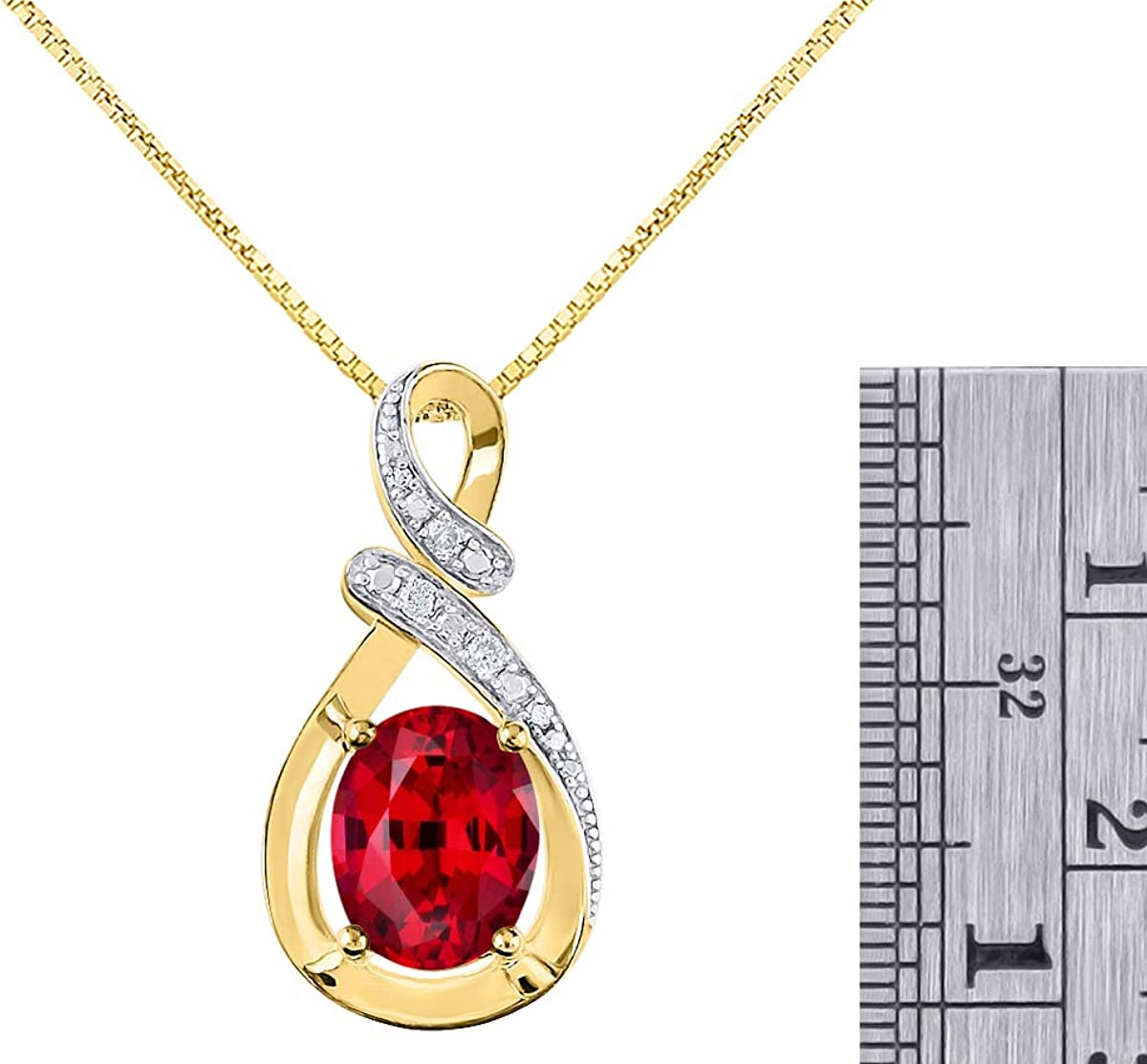 WHITE GOLD FINISHED RED RUBY AND CREATED DIAMOND OVAL NECKLACE  EARRINGS