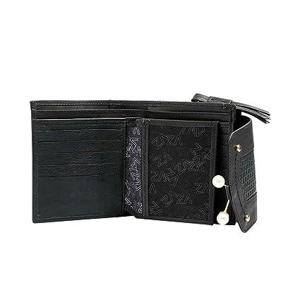 Velez Women Beautiful Genuine Leather Trifold Wallet Credit Card Holder Small Purse Organizer   Billeteras de Cuero Colombiano para Mujeres Black at Amazon ...
