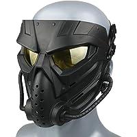 Wwman Airsoft Máscara para Uso en Exteriores, CS Cosplay Halloween, Máscaras de Montar, Facial Táctica Resistente al…