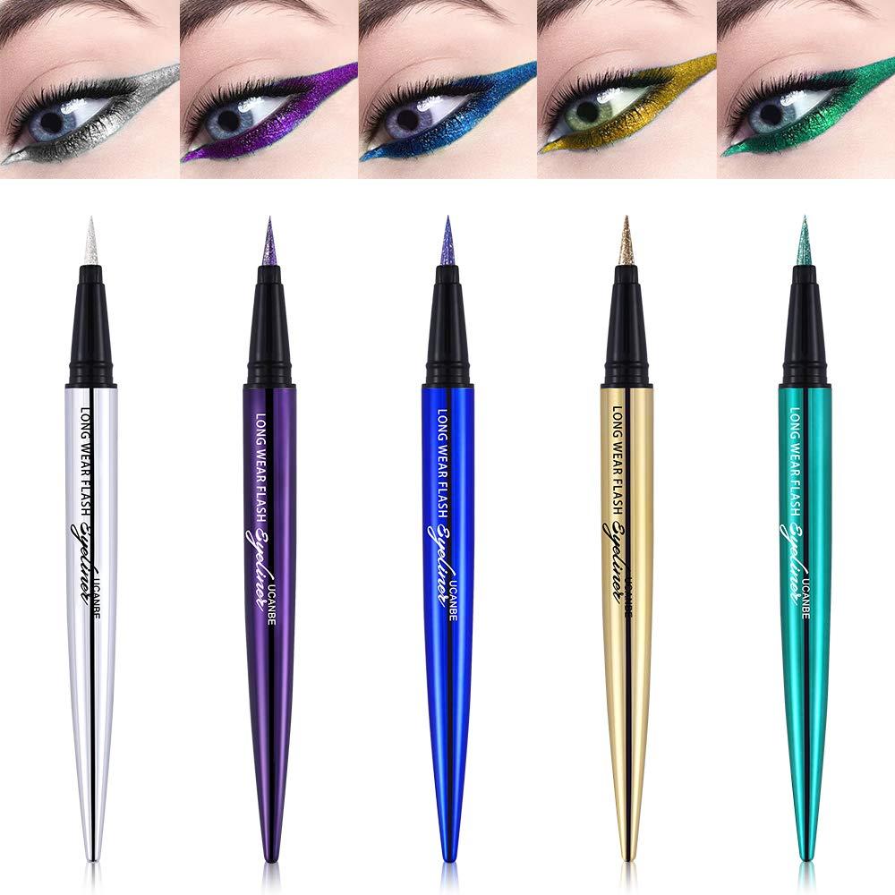 4e3af2f4b13 Amazon.com : Glitter Diamond Pro Smooth Eyeliner Pen Shimmer Pigmented  Eyeshadow Pencil Eye Gel Waterproof Beauty Makeup, 01 : Beauty