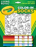 Crayola Color-In Ankle Socks: Snow Buds