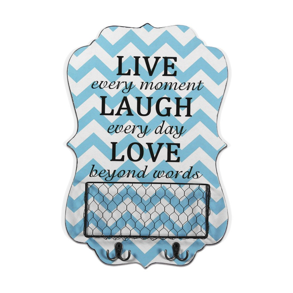Xing Cheng Wall Art Live Every Moment Laugh Every Day Love Beyond Words Metal Basket With Hanger Ready To Hang