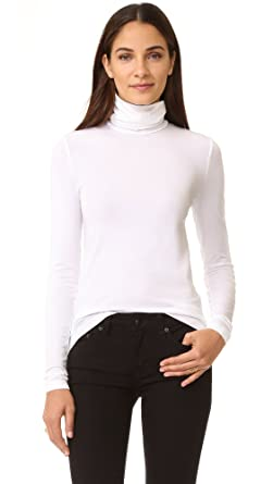 Wolford Women's Viscose Turtleneck Pullover, White, X-Small
