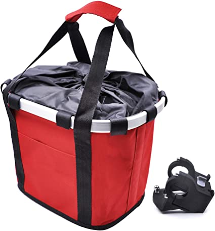 Folding Bicycle Basket Small Pet Cat Dog Carrier Front Bike Handlebar Basket Bag