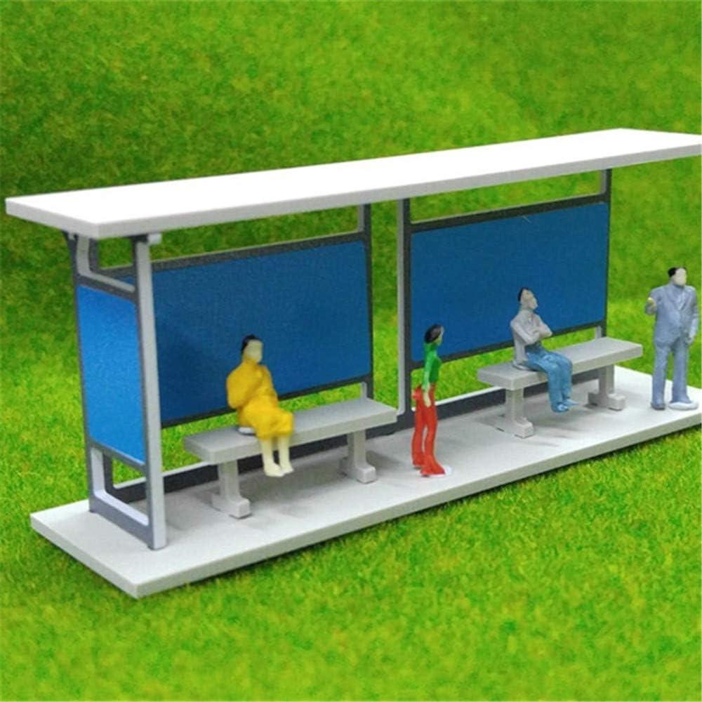 ZAMTAC 1:87 HO Scale Gauge Building Model Train Railway Layout Shelter Station Bus Stop DIY Architectural Sand Table Model Kit