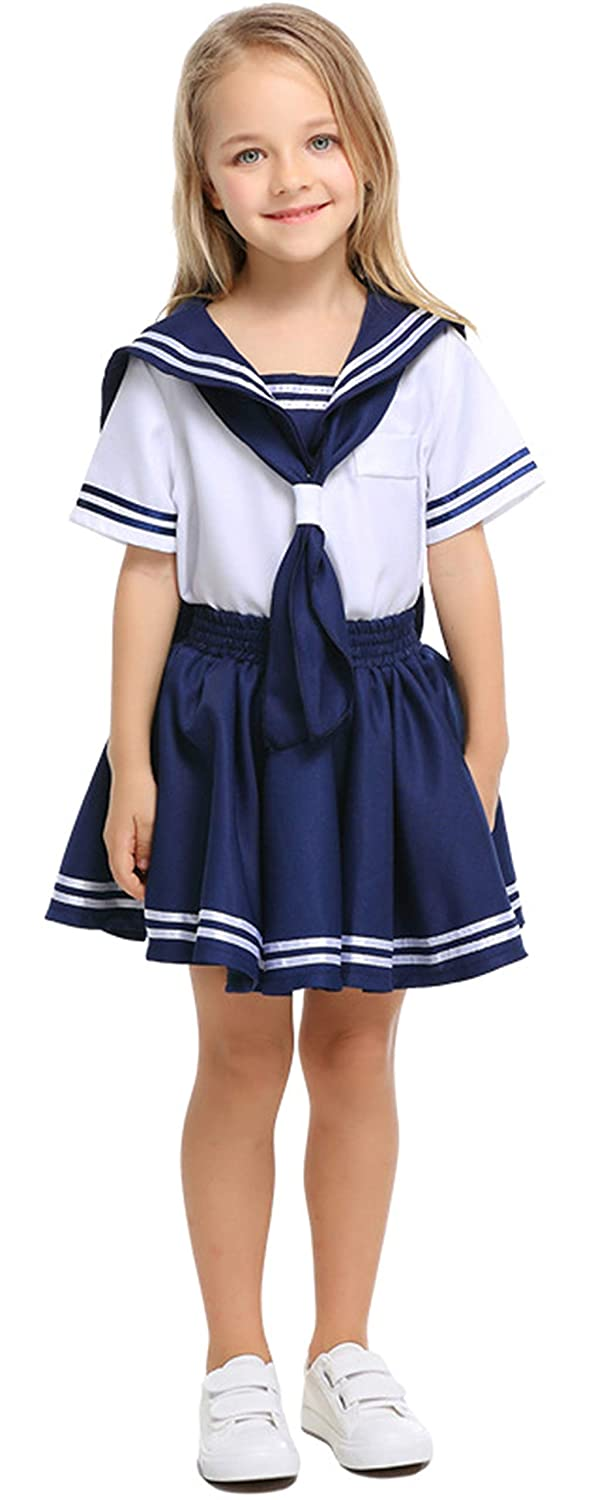 MOMBEBE COSLAND Baby Boys 2 Pieces Sailor Romper Outfit